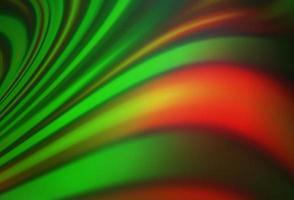 padrão de vetor verde e vermelho escuro com formas de bolha.