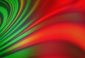 de fundo vector verde-claro e vermelho com formas de lava.