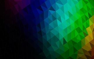 cobertura poligonal abstrata do vetor do arco-íris multicolorido escuro.