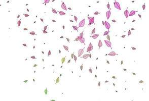 padrão de desenho de vetor rosa claro, verde.