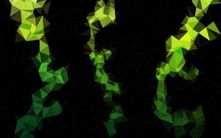 luz verde vetor abstrato mosaico padrão.