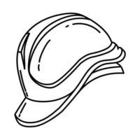ícone do capacete de segurança. doodle desenhado à mão ou estilo de ícone de contorno vetor