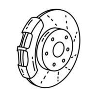 ícone de freio. doodle desenhado à mão ou estilo de ícone de contorno vetor