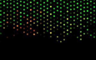 modelo de vetor verde escuro e vermelho com círculos.
