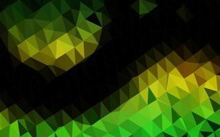 textura de baixo poli de vetor verde e amarelo escuro.