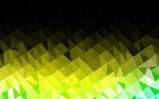fundo abstrato do polígono do vetor verde e amarelo claro.