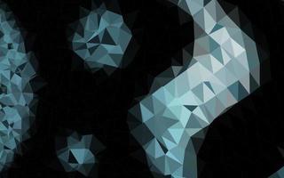 padrão poligonal de vetor azul escuro.