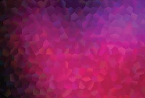 textura vector rosa escuro com hexágonos coloridos.