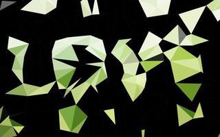 modelo poligonal de vetor verde escuro.
