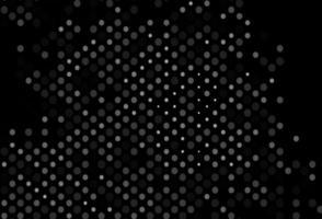 fundo cinza escuro do vetor com bolhas.