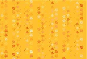 pano de fundo de desenho de vetor amarelo e laranja claro.