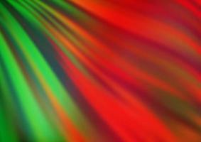 modelo de vetor verde e vermelho claro com linhas abstratas.
