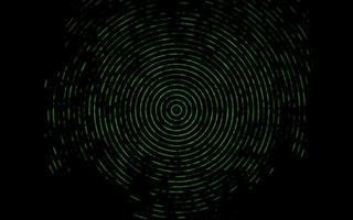 padrão de vetor verde escuro com formas de bolha.