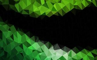 textura de triângulo embaçada de vetor verde claro.