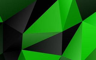 textura poligonal abstrata de vetor verde claro.