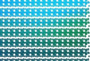 modelo de vetor azul claro e verde com fitas dobradas.