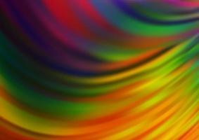 multicolor escuro, padrão de bokeh de vetor de arco-íris.