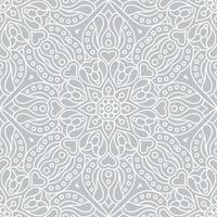 abstrato étnico floral padrão sem emenda vetor