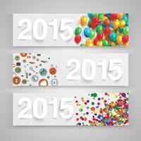 2015 feito por papel, vetor