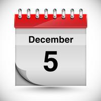 Calendário para dezembro, vetor