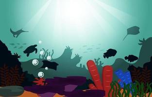 vida selvagem peixes animais marinhos coral oceano subaquático ilustração aquática vetor