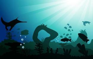 animais selvagens peixes animais marinhos oceano subaquático aquático ilustração plana vetor