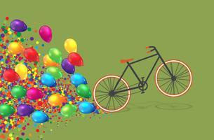 Ilustração plana de bicicleta colorida, vetor