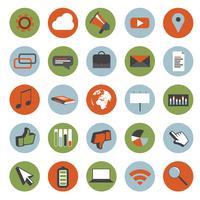 Conjunto de ícones de estilo retro e ilustração vetor