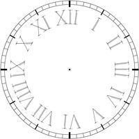 Relógio vintage de vetor