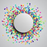 Fundo colorido celebração com confete, vetor