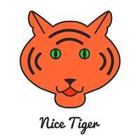 logotipo ou ícone do tigre vetor