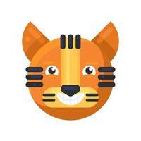 tigre emoji feliz rindo de um vetor de piada engraçada