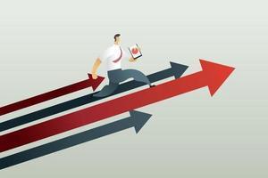 correndo para o caminho para alcançar um negócio-alvo. vetor