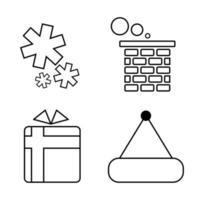 conjunto de ícones de natal, design plano vetor