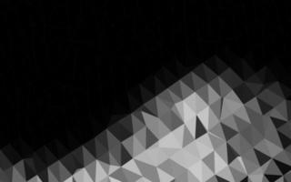 prata escura, textura de mosaico de triângulo de vetor cinza.