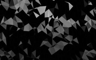 modelo de mosaico de triângulo de vetor cinza escuro, prata escura.
