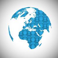 Mundo azul, vetor