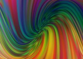 fundo escuro multicolorido do vetor do arco-íris com formas de lava.