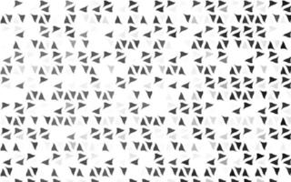 pano de fundo de vetor cinza claro prata com linhas, triângulos.
