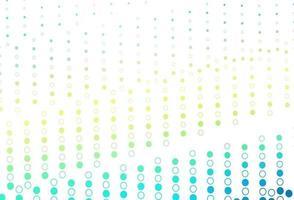 layout de vetor de azul claro e amarelo com formas de círculo.
