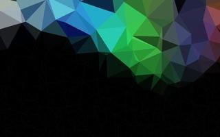 luz multicolor, textura poligonal abstrata do vetor do arco-íris.