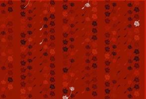 modelo de doodle de vetor vermelho claro.