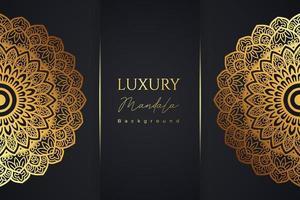 padrão de mandala arabescos de luxo vetor
