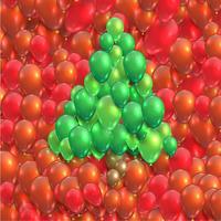 Árvore de Natal feita por balões, vetor