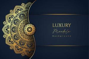 Mandala de fundo islâmico de luxo vetor