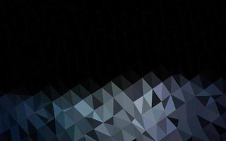 modelo poligonal de vetor preto escuro.