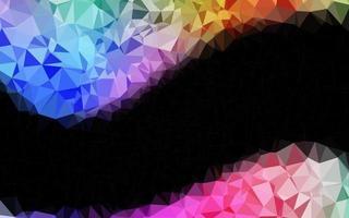 luz multicolor, fundo de mosaico abstrato de vetor de arco-íris.