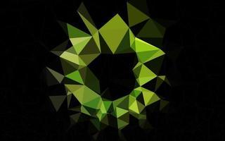 layout de baixo poli de vetor verde claro.
