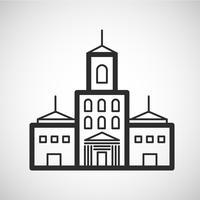 Ícone de alojamento, ilustração vetorial
