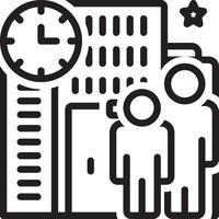 ícone de linha para coexistir vetor